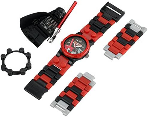 Lego Darth Vader Watch Building Toy Time Light Saber Create Design Space Blocks Star Wars Evil