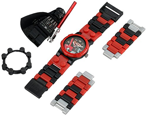- Lego Darth Vader Watch Building Toy Time Light Saber Create Design Space Blocks Star Wars Evil