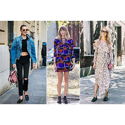 Zapatos para mujer HWF Zapatos de Cuero para Mujer, Estilo Horsebit, Mocasines con Fondo Blando, Primavera Femenina, Zapatos Individuales, Zapatos de tacón ...