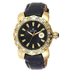 Karlo Ricci Women Black Leather Band Watch - 1014 G