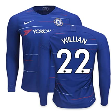7d170d955841bd Amazon.com : 2018-2019 Chelsea Home Nike Long Sleeve Football Soccer ...