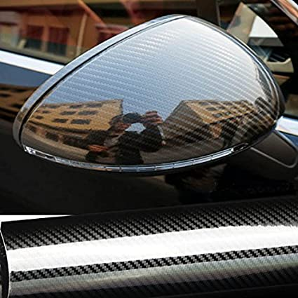 30cm x 152cm LZLRUN 6D Car Carbon Fiber Stickers Hight Glossy Carbon Fiber Vinyl Film CarInterior Waterproof and Anti-Scratch Sticker