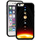 For Apple iPhone Shockproof Impact Hard Soft Case Cover Solar System Planets (Black for iPhone 5/5s)