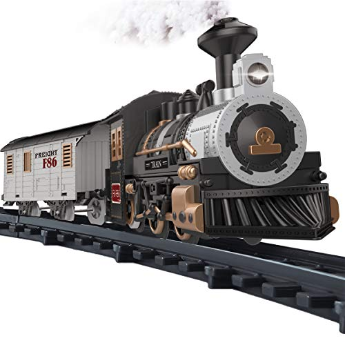 Fistone Electric Rail Play Trains Railway Track Sets with Realistic Sound and Light Effects Simulation Model Toy for Kids - Electric Train Railway Set