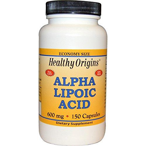 Healthy Origins, Alpha-Liponsäure, 600mg, x150 Kapseln