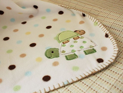 NAUGHTYBOSS Unisex Baby Bedding Set Cotton 3D Embroidery Frog Tortoise Owl Quilt Bumper Bedskirt Fitted Blankets Diaper Bag 9 Pieces Green by NAUGHTYBOSS (Image #8)