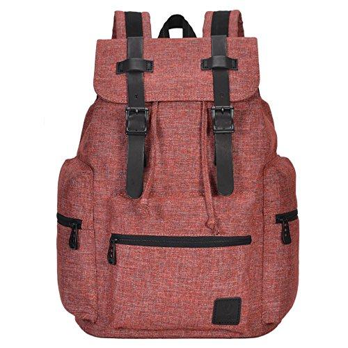 Hynes Eagle Vintage Canvas Backpack Travel Rucksack 19L Army Green