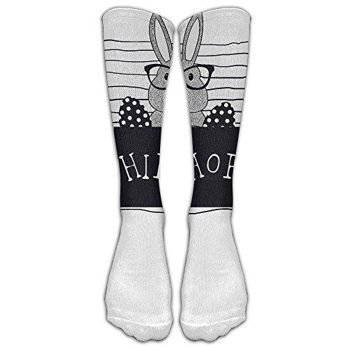 Sock Hop Ideas (High Socks For UnisexHip Hop Easter Bunny Colorful Easter Eggschool Knee High Stockings Long Socks)