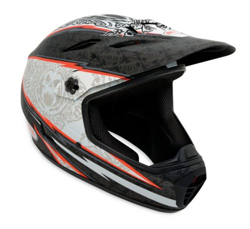 Bell Helmets Drop - Bell Drop Bike Helmet, Matte Black/Red 13th Floor, Large