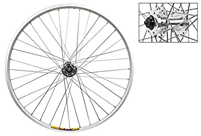 """Wheel Master Front Wheel - 26"""" x 1.5"""", Double Wall, Quick Release, 36H, All Silver"""