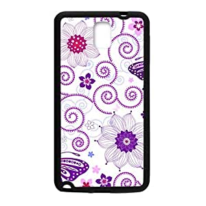 Cartoon Butterfly And Flower Phone Case for Samsung Galaxy Note4