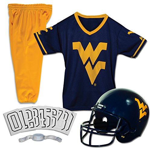 Franklin Sports NCAA West Virginia Mountaineers Deluxe Youth Team Uniform Set, (Halloween Costumes Sports Fan)