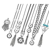 Garden Charms Ginger Snap Charms Necklace for 18mm Snap Button Interchangeable Jewelry 26 Styles GCNN-637
