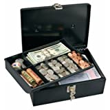 Master Lock 7113D Cash Box with 7 Compartment Tray