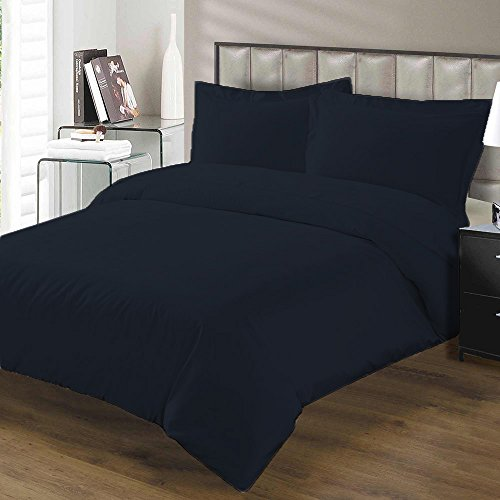 Tribeca Living Solid Flannel Heavy Weight Duvet Cover Set