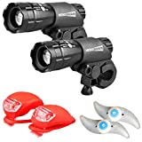 HeroBeam Bike Lights Double Set - The Ultimate Lighting and Safety Pack of...