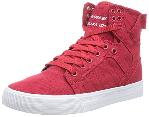 Sneakers red Red top Supra White Adults Red Unisex Low qx8YOtYwI