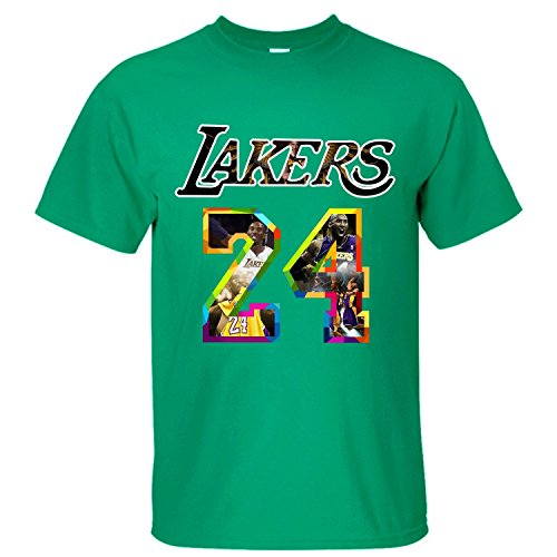 Price comparison product image TOTOT Men's Kobe Bryant Los Angeles Lakers The Black Mamba Cotton T Shirt green S