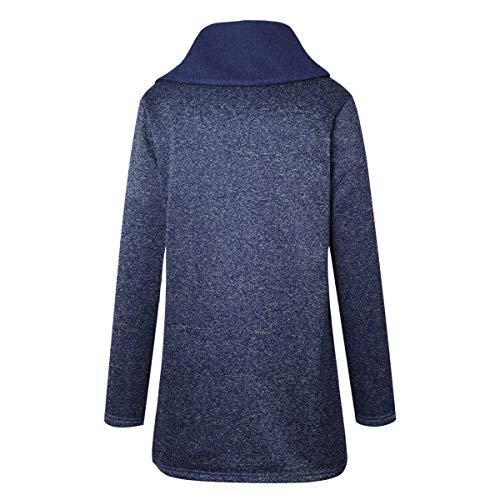 Blu Soprabito Outerwear Trench Giacca Moda Autunno Woznloye Coat Cime E Lunga Casual Jacket Tops Giacche Manica Inverno Donne Cappotto Parka Giubbotto vRWqxZwB1