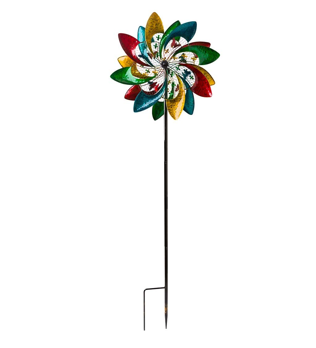 Colorful Mesh Wind Spinner - 24.5 L x 10.5 W x 74.5 H