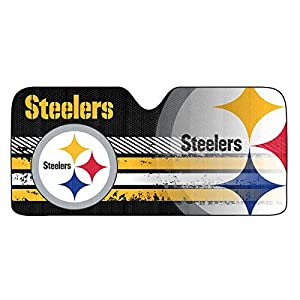 NFL Pittsburgh Steelers Universal Auto Shade, Large, Black at Steeler Mania