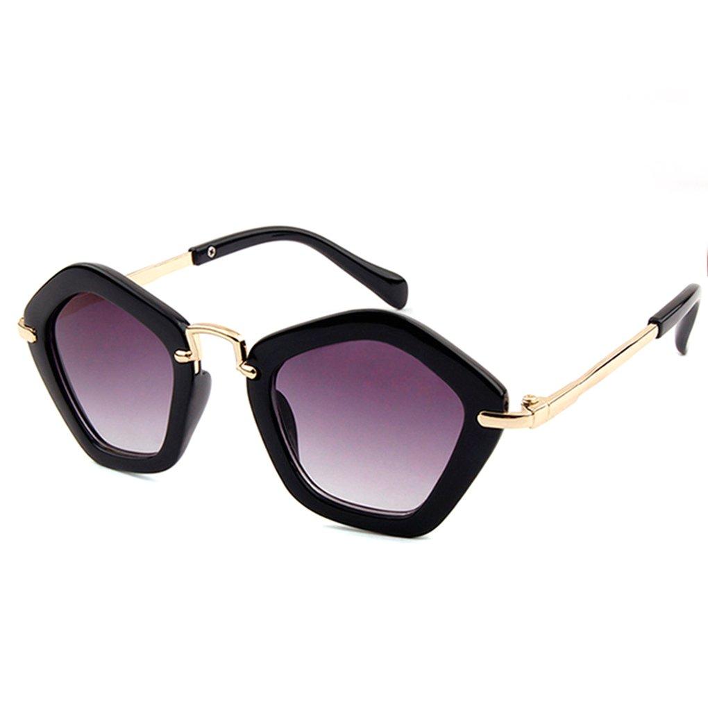 Junecat Polygonal Childrens Sunglasses Kids Boys Girls AC Lens Sun Glasses Plastic Frame UV 400 Sun Shades Baby Eyewear