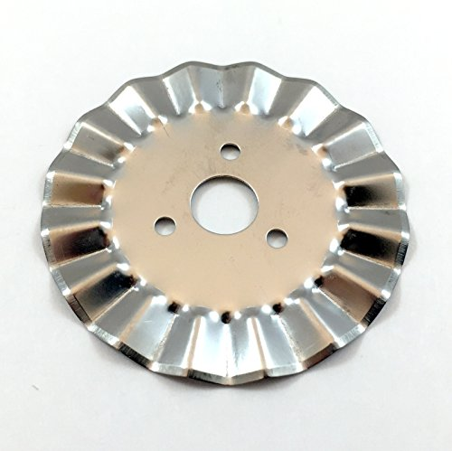 (45mm Round Pinking Blades ( 12 Pack ) Scalloped Edge Replacement Rotary Blades for Rotary Cutters)