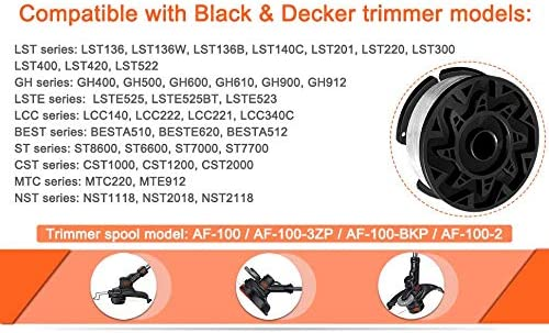 String Trimmer Weed Eater Replacement Spool Refills Line 0.065 ...