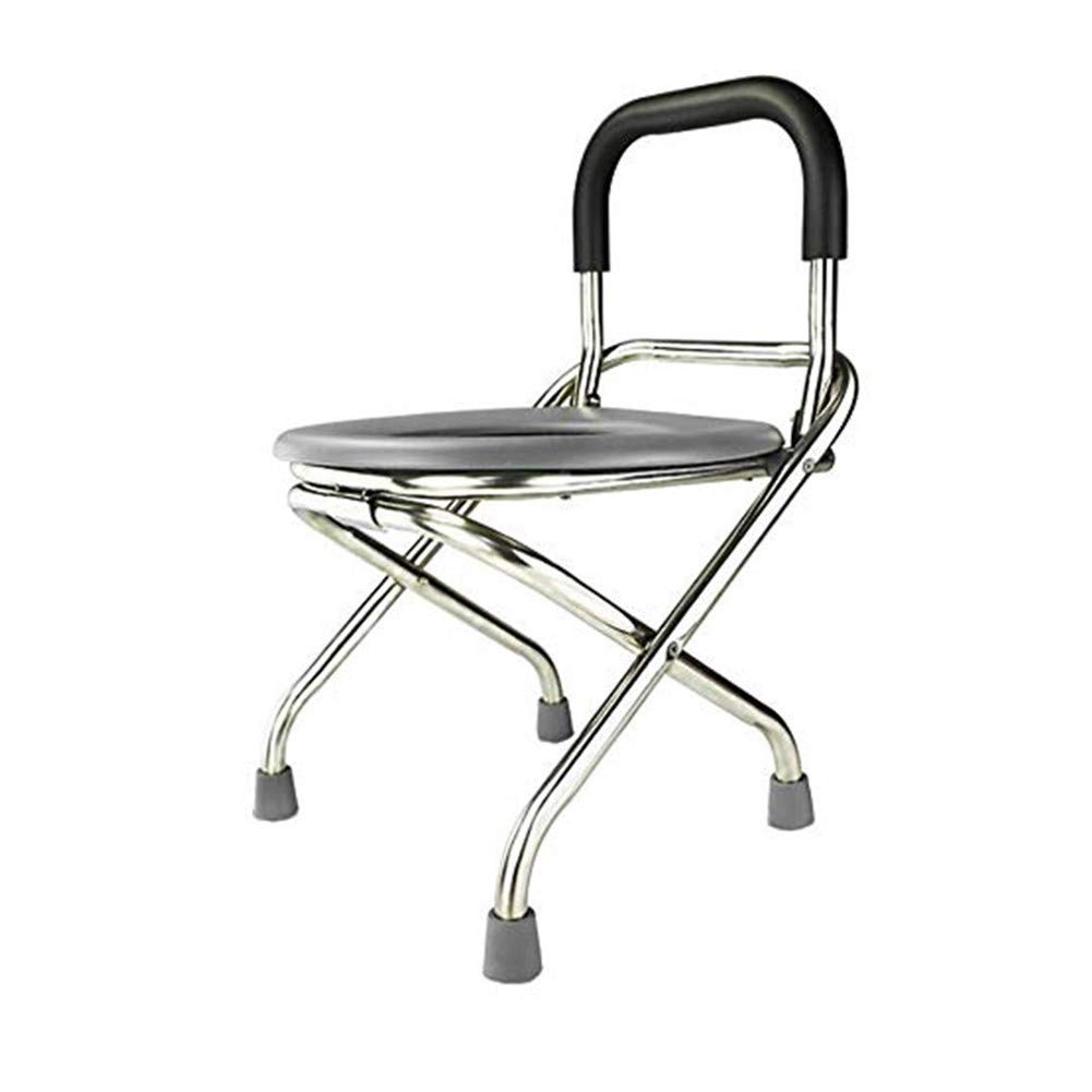JJZXPJ Commode Chair,Bedside Commodes Folding Portable Toilet Chair Toilet Stool Seat Perfect for Camping, Hiking, Trips, Construction Sites by JJZXPJ