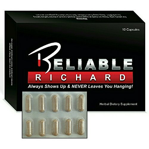 IMPROVED Reliable Richard ALL Natural Male Sports Stamina Energy Booster 10 Pack with Gingko Biloba