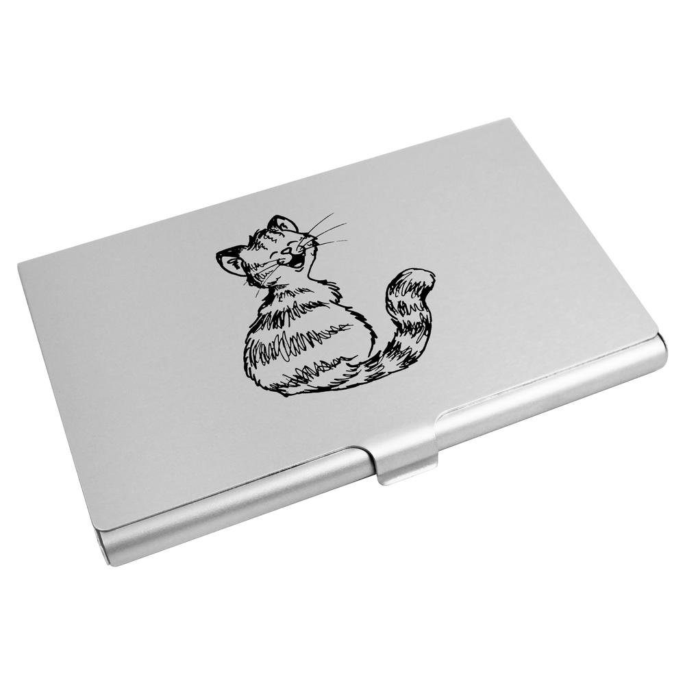Azeeda 'Smiling Cat' Business Card Holder / Credit Card Wallet (CH00006376)