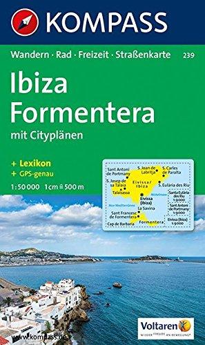 Kompass Karten, Ibiza - Formentera (KOMPASS-Wanderkarten, Band 239)