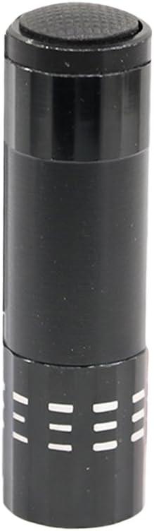 ledmomo portátil 9LED Mini nail Dryer lámpara UV LED UV Ultravioleta Blacklight linterna eléctrica linterna Gel para uñas secado rápido nail art Secadora Instrumentos Money Detector (negro)