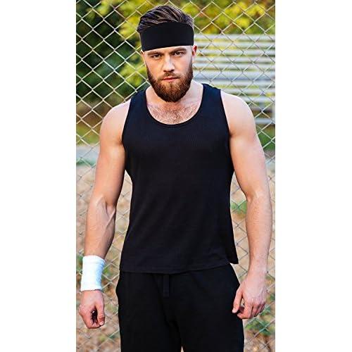 Mens Headband - Best Guys Sweatband   Sports Headband for Running ... 0c5b9dd6e4e