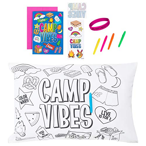 3C4G Deluxe Kids Summer Camp Gift Set Kit - Autograph Pillowcase, Greeting Card, Stickers, Tattoo and Wristband Accessory