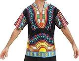 Raan Pah Muang Brand Thin Bright Dashiki Windbreaker Hoody Short Sleeve, XX-Large, Black Trim Red