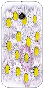 Snoogg Daisies Isolated On A White Background Designer Protective Back Case C...