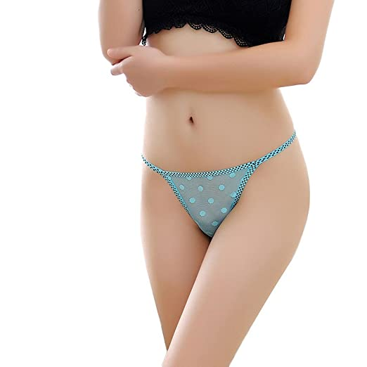 175086b972 XINDEEK Womens Sexy Panty Thongs G-String Mesh Underwear Lingerie T Back  Bottom(Dark Blue