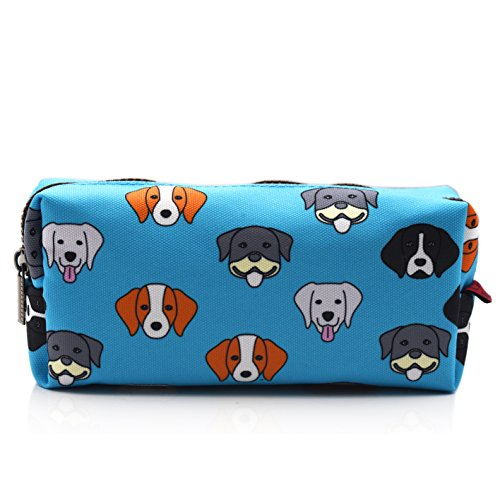 French Bulldog Pencil Case Students Capacity Canvas Pen Bag Pouch Stationary Case Makeup Cosmetic Bag