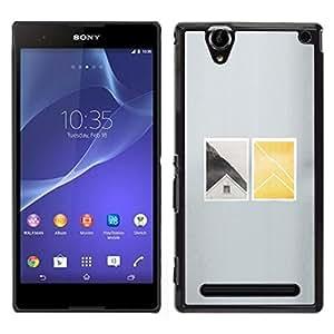 "For Sony Xperia T2 Ultra Case , Casa Ventana profundo minimalista"" - Diseño Patrón Teléfono Caso Cubierta Case Bumper Duro Protección Case Cover Funda"