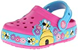 crocs Kids 15632 Busy Bee Light-up Clog (Toddler/Little Kid/Big Kid),Neon Magenta/Electric Blue,10 M US Toddler