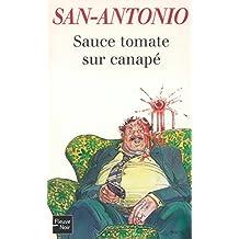 Sauce tomate sur canapé