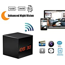 Hidden Camera HD Wireless Spy Network Camera Smart Clock WiFi Fluent Video Recorder with Enhanced Night Vision