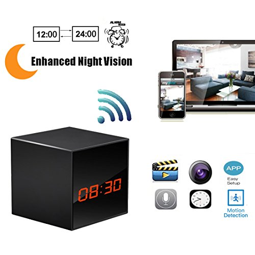 Hidden Camera HD Wireless Spy Network Camera Smart Alarm Clo