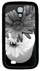samsung galaxy s4 case,custom samsung galaxy s4 i9500 case,TPU Material,Drop Protection,Shock Absorbent,Customize your own cell phone case pattern,black case,sunflower