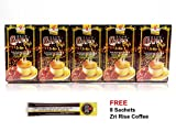 [Value Pack] 5 Boxes Ganocafe 3 in 1 Ganoderma Lucidum Latte Coffee FREE Zrii Rise Coffee