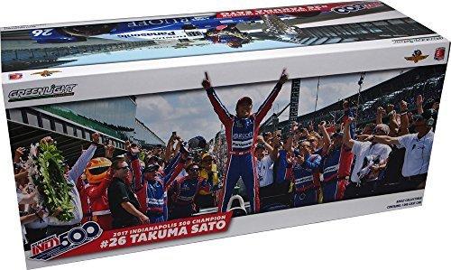 INDY500 [GREENLIGHT] 1/18 green light 2017 year victory anniversary model Andretti over Honda Takuma Sato