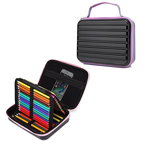 Hard Case Pencil Wrap Holder for Colored Pencils, Pens, Mark