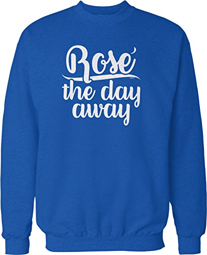 NOFO Clothing Co Rose The Day Away Crew Neck Sweatshirt, L Royal