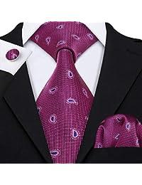 Ties for Men Designer Hanky Cufflinks Necktie Set WOVEN